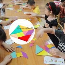 New EVA Tangram Jigsaw Puzzle Educational Developmental Kid Child Toy Game