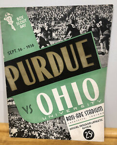 vintage 1936 official game day purdue football program