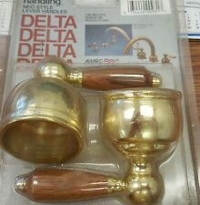 Delta NEO style lever handles brass with wood handles
