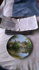Limoges Collectors Plate Une Journee Au Bord De L'eau With Certificate VGC