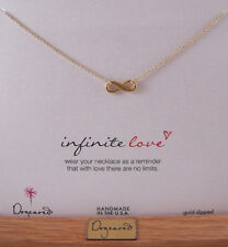 "Dogeared 16"" Gold Dipped Infinite Love Necklace NEW"
