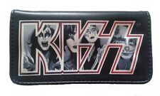 Tobacco Case Pouch Synthetic Leather Bag Smoke Rolling Black The Kiss Music Rock
