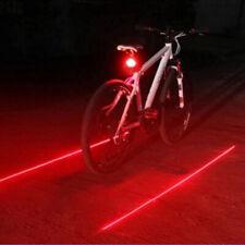 2 Laser+5 LED Flashing Rear Bike Bicycle Tail Light Lamp  Beam Safety WarniOI