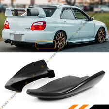 For 2005-07 Subaru Impreza WRX Sti CS Style Rear Bumper Side Aprons Valance Spat