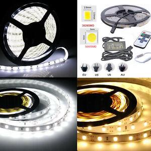 1-10m LED Strip Lights White Waterproof 5050 3528 SMD Flexible Car light DC 12V