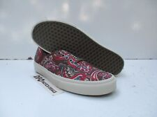 VANS Authentic CA Paisley Olive Brown Mens Skate Shoes Size 11 VN000ZUII2U NEW