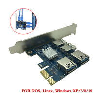 PCI Express Riser Card CI-E 1x to 16x 1 to 4 PCIE USB 3.0 Slot Multiplier Port