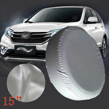 "15"" SPARE TIRE COVER GREY HEAVY DUTY VINYL TIRE COVER"