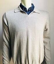 Brooks Brothers Sweater, Light Mocha, Merino Wool, Large, Exc Cond