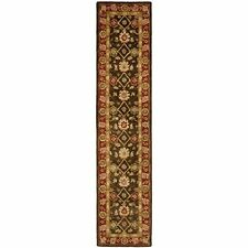 Safavieh Olive/Rust Wool Carpet Area Rug  Runner 2' 3 x 16'