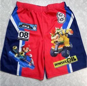 Mariokart Mario Bowser Boy's Size 6 Summer Pajama Shorts PJ PJs