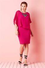 e49977b9fc8872 Roman Originals Cerise Chiffon Layer Pleated Dress Size Uk20 Dh181 KK 15