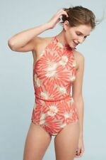 NEW Anthropologie Seea Karina One Piece Swimsuit Bathing Suit XS Extra Small Red