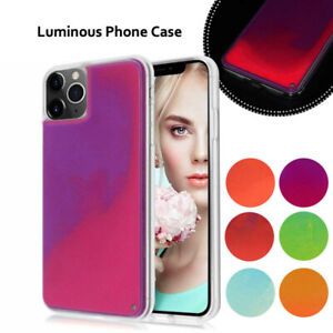 Luminous Glow Quicksand Neon Hybrid Phone Case Glitter Cover For Smart Cellphone