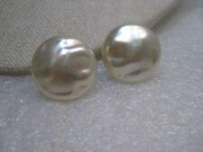 """Vintage Richelieu Faux Pearl Earrings, Screw Back, Baroque Style, 7/8"""""""