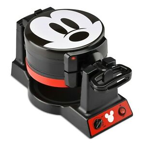 Disney Mickey Mouse 90th Anniversary Double Flip Waffle Maker * New in Box * Wow