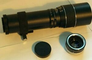 Hanimar 300mm f/5.6 Prime Camera Lens Fits M42 Mount, Soligor Tele Converter