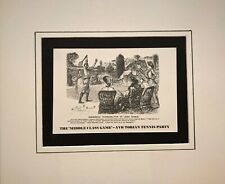 THE 'MIDDLE CLASS GAME' – A VICTORIAN TENNIS PARTY (Vintage Print) on mount.