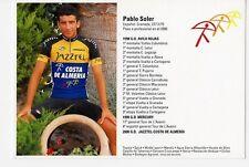 CYCLISME carte cycliste PABLO SOLER équipe JAZZTEL-COSTA DE ALMERIA