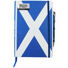 Scotland Flag Notebook - Hardback A5 - Scottish Saltire - Scottish National Flag