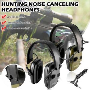 Electronic Shooting Earmuff Noise Reduction Hearing Protection Headset Foldable
