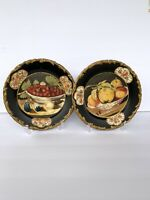 "Set Of 2 Raymond Waites Fruit Designed Plates For TOYO Trading Co 10"" Preowned"