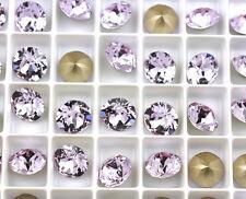 12 Violet 1088 Swarovski Crystal Chaton Stone SS39 Foiled 8MM