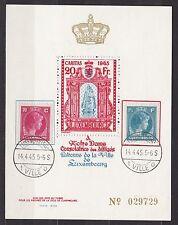 Luxemburg 1945 gestempelt Caritas Vignetten Block Nr. 029729