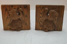 Vintage Wooden Baby Elephant Book Ends
