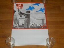 The Muffins open city 16 x 24 Promo Poster original 1985 cuneiform fred frith