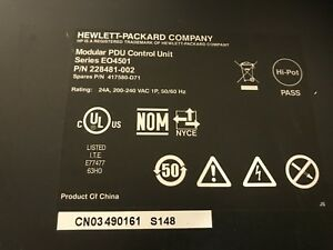 HP EO4501 Modular PDU Power Distribution Unit 228481-002 w/ rack mount brackets