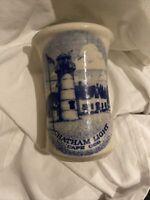 CHATHAM POTTERY Stoneware USA Platter Blue Chatham Light Cape Cod EUC
