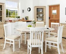 Florence oval extending dining table and 6 chairs.Wooden kitchen table & chairs