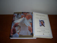 Lot 2 books by  Pope John Paul II  0847827615; 0684870339