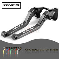 CNC 1 PAIR Lever Long Adjustable Brake Clutch Levers for YAMAHA YZF-R3 15-19