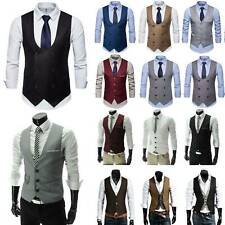 Men Business Tuxedo Suit Blazer Coat Waistcoat Formal Dress Vest Slim Jacket Top