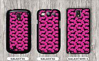 vintage dachshund pink CASE FOR SAMSUNG GALAXY S3 S4 NOTE 3 -n3fx