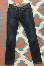 $188 NWT Rich & Skinny Dark Blue Denim Jeans Women's Size 24, Made In USA