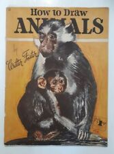 VTG How To Draw Animals #12 Leon Franks Published by Walter T. Foster 1960's