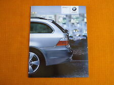 USA BMW 5er Series Sports Wagon E60 E61 Katalog Prospekt 530xi catalog brochure