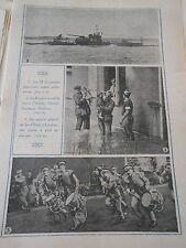 M-2 sous marin anglais Course à pied en musique tambour Londres Print 1928