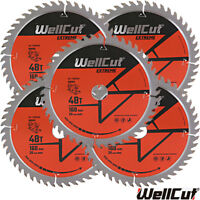 WellCut Extreme TCT Saw Blade 160mm x 48T x 20mm Bore For Festool TS55 Pack of 5