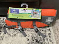 Top Paw Orange Life Jacket (Size Large: Dogs 55-85 lbs) New