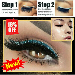 4pairs Reusable Eyeliner And Eyelash Stickers European And American Makeup Sexy