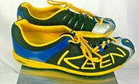 Mens KEEN 12014-bkye blue yellow trail running shoes size 10.5 US