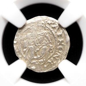 HUNGARY. Ferdinand I Silver Denar, 1526-1564, NGC MS62, Mint State