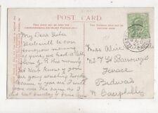 Llanbradach Cardiff 20 fév 1908 simple anneau cachet 981 A
