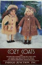 "New-Indygo Junction #Ij461-Sew Pattern-""Cozy Coat""-17-19"" American Girl Sz Dolls"