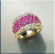 Rubin Ring 1,60 Karat 585er Gelbgold weiße Brillanten Neu Goldschmuck