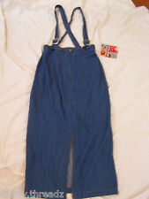 7691 NWT ~ Juniors True Blue Denim Jean Jumper Overalls Dress Skirt, Size 11/12